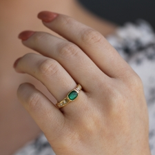Diamond Band Emerald Ring Image