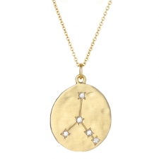 Cancer 14k Gold Diamond Constellation Astrology Necklace Image