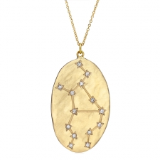 Virgo 14k Gold Diamond Constellation Astrology Necklace Image