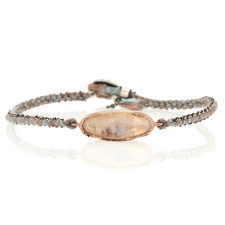 Rose Gold Moonstone Icicle Woven Bracelet Image