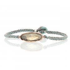 Aquamarine Rose Gold Icicle Woven Bracelet Image