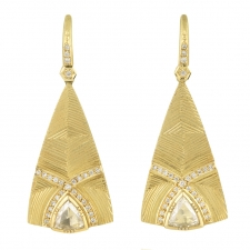 Nefertiti Diamond Engraved Earrings Image