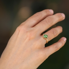 Ziggurat Hex Green Tourmaline Ring Image