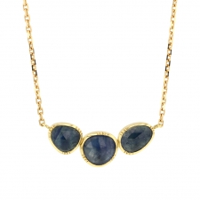 Blue Sapphire Triple Orbit Necklace Image