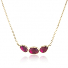 Ruby Orbit Triple Gold Necklace Image