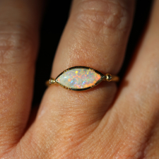 Marquise Opal 18k Gold Ring