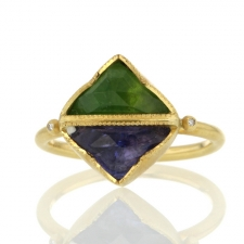 Double Triangle Tanzanite Tsavorite Ring Image