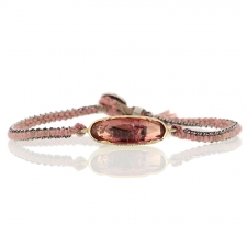 Pink Tourmaline Icicle Woven Bracelet