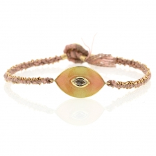 Talisman Enamel Diamond Blossom Silk and Gold Bracelet Image