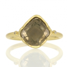 Asymmetrical Diamond Slice 18k Gold Ring Image