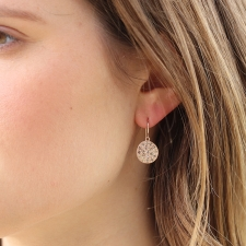 Mini Mars Rose Gold Diamond Earrings