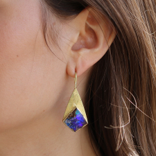 Boulder Opal Geo Earrings Image