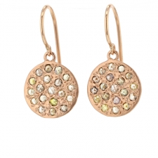 Mini Mars Rose Gold Diamond Earrings Image
