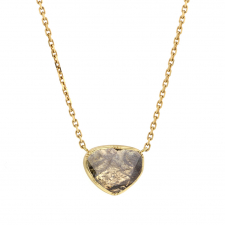 Diamond Slice 18k Gold Necklace Image