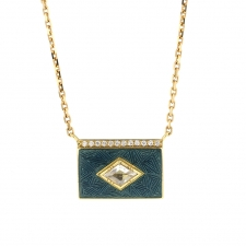 Diamond Enamel Petrol Necklace