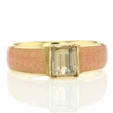 Enamel Square Diamond Ring Image