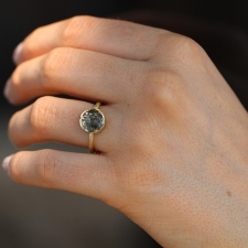 TS - Diamond Circle Dew Drop Ring Image