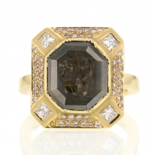 TS - Ziggurat Frame Diamond Ring 2 Image