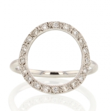 Infinity White Gold Diamond Ring Image