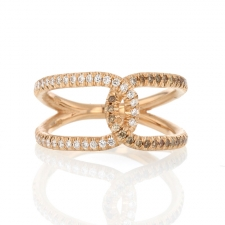 Rose Gold Pave Love Knot Ring Image