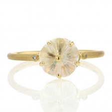 Blossom Moonstone 14k Gold Ring Image