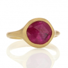 Rose Cut 18k Gold Ruby Slice Ring Image