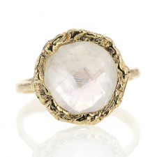 Rainbow Moonstone All 14k Gold Lace Ring Image