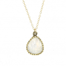 Rainbow Moonstone Vermeil Gold Necklace Image