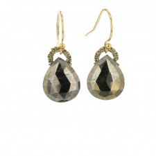 Pyrite Woven Droplet Earrings Image