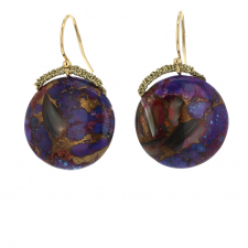 Turquoise Abalone Drop Earrings Image