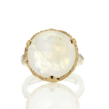 Rainbow Moonstone Silver and Gold Ring Image
