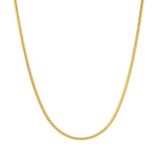 18k Yellow Gold Snake Chain 1.5mm Necklace Image