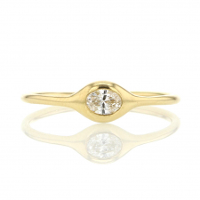 Oval Diamond 18k Yellow Gold Ring Image