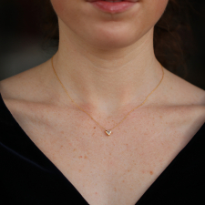Diamond Trillion 18k Gold Necklace Image