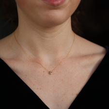 Heptigon Cut Diamond 18k Gold Necklace Image