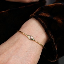 Square Rose Cut Diamond 18k Gold Cuff Bracelet Image
