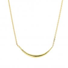 Solid Arch 18k Gold Necklace Image