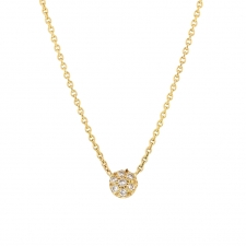 Small Pave Bead Gold Necklace Image