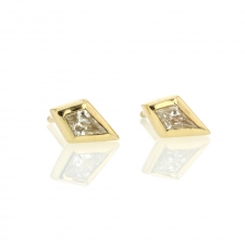 Diamond Kite Gold Post Stud Earrings Image