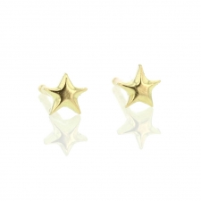Tiny Gold Star Gold Earrings Image