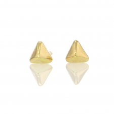 Tiny Pyramid Gold Stud Earrings Image