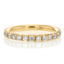 French Cut Diamond Eternity Gold Band Image