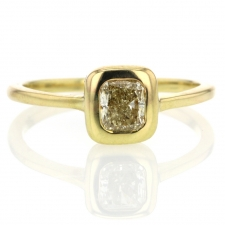 Fancy Yellow Cushion Diamond Solitaire Ring Image