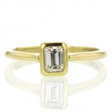 Emerald Cut Diamond Solitaire Ring Image