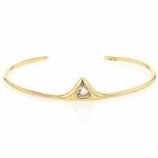 Pear Shaped Rose Cut Diamond Cuff Bracelet Image