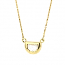 Half Moon Diamond 18k Gold Necklace Image