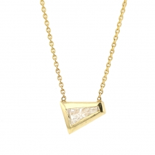 Tapered Diamond 18k Gold Necklace Image