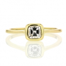 Ascher Cut Diamond Gold 18k Ring Image