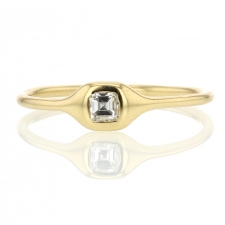 Ascher Cut Small Diamond Gold 18k Ring Image