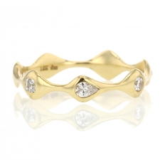 Mixed Shape Diamond Eternity 18k Yellow Gold Ring Image